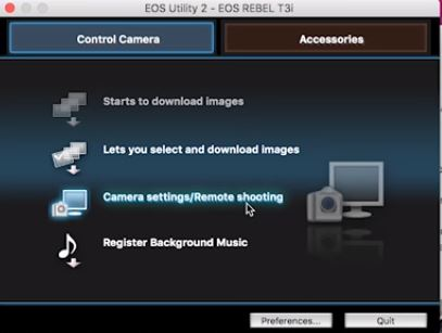 eos utility remote shooting - cara buat video sinematik