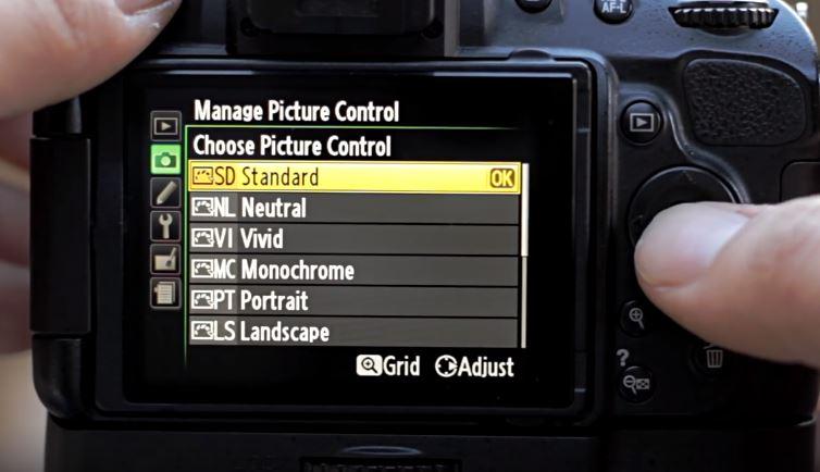 nikon pilih picture profile baru untuk diduplikat - cara buat video sinematik