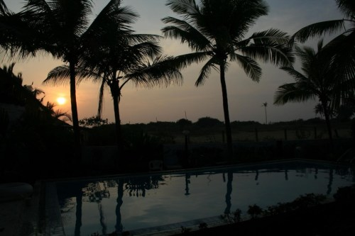 View from our guest house in Candolim Beach