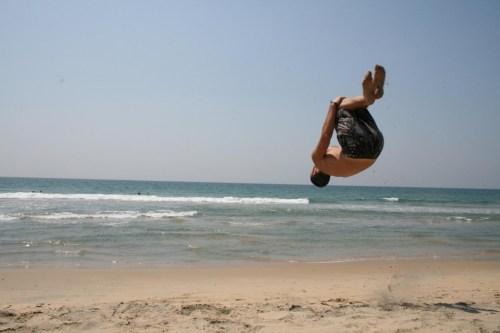 Beach backflip (reprezent Gim Mandemant)