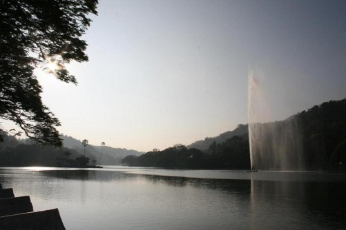 Kandy Lake in front of our Hotel