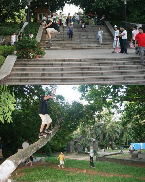Streetboarding @ Ren Min Gong Yuan Parc (The people square)
