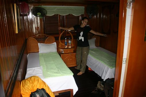 Our room in the boat