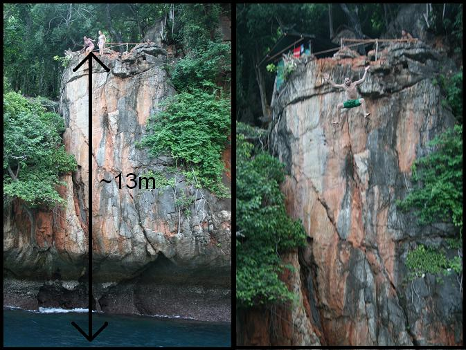 13 meters cliff jumping