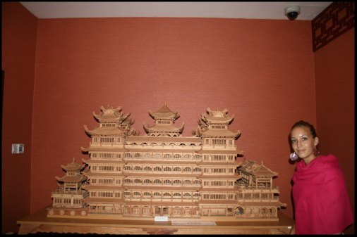 Chinese temple model