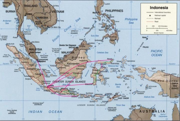 Map of Indonesia carte de l Indonesie