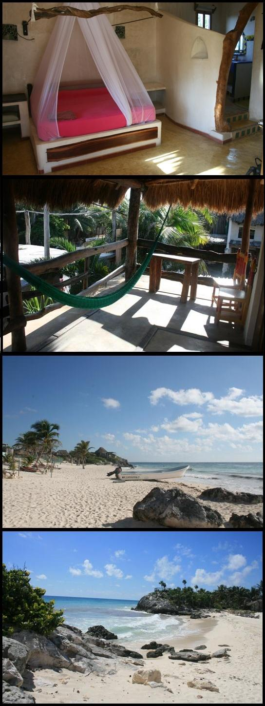 Tulum room & beach