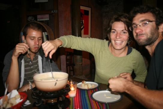 Fondue with Ricardo, Claire & Damien