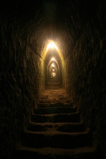Inside the pyramide of Cholula