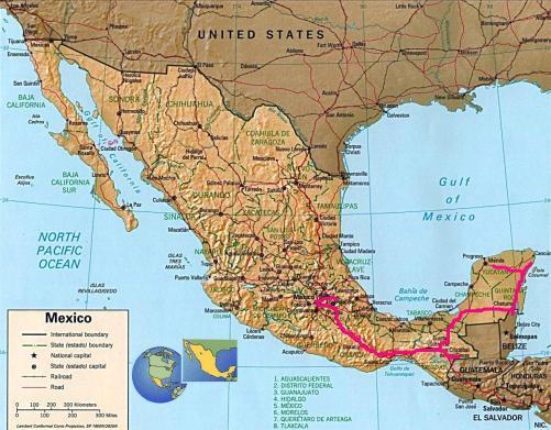 Itinary mexico trajet mexico