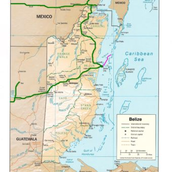 Map Belize carte belize