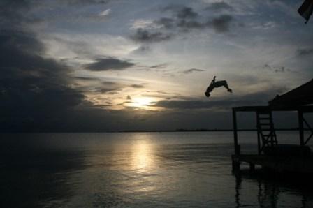 18 Backflip sunset