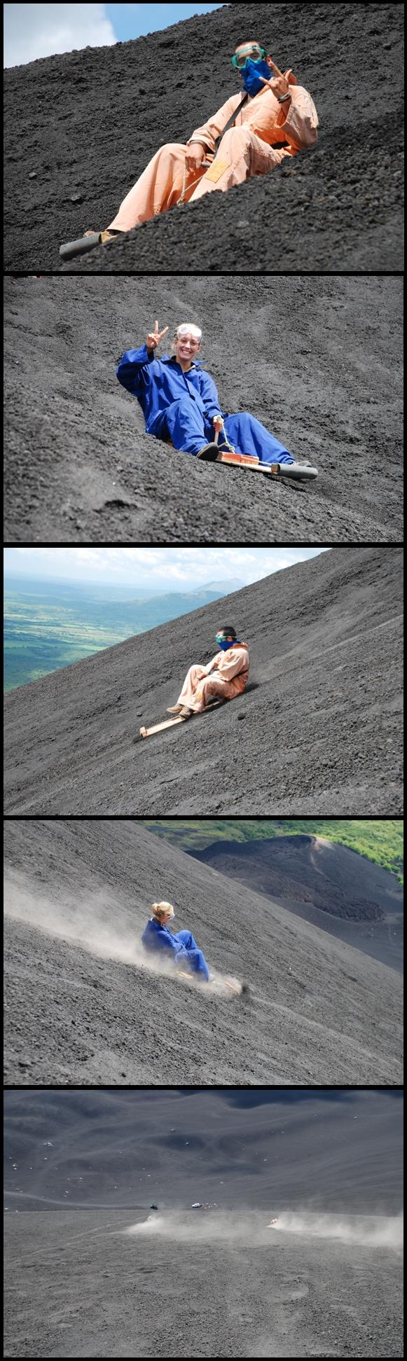 Cerro Negro slide ride