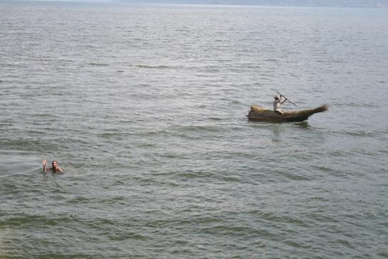 Small boat lac atitlan