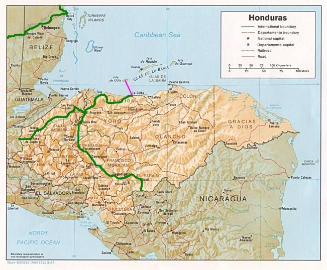 itinéraire honduras
