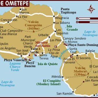 Map Isla De Ometepe