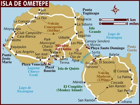 Map Isla De Ometepe