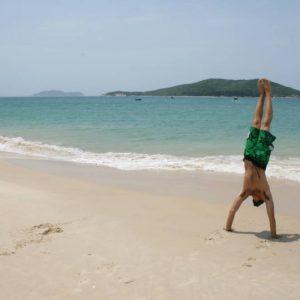 Handstand in Sanya, China