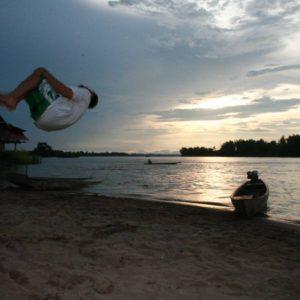Backflip au 4000 iles au Laos