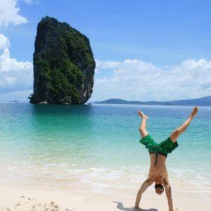 Poda Island handstand