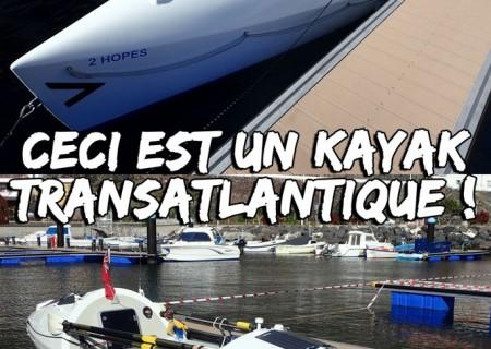 kayak capable de traverser l'atlantique