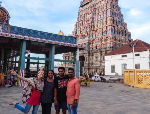 Family trip in Tamil Nadu temples