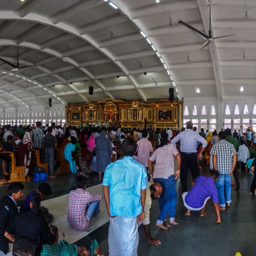 Inside the Velankanni church