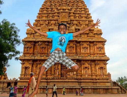 Flying in Brihadesvara