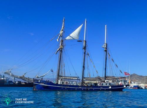 Swiss pirate ship Mindelo