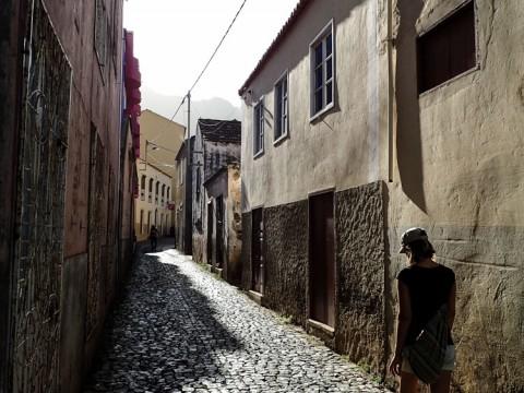 The empty street in Ribeira Grande