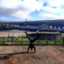 Biggest dam in the world handstand