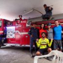 After the desert we cross a river in a canoe and cycle to the town of Aipe. We visited the fireman and finally slept in the backyard of the station ?? A million thanks for the fireman that hosted us and support our travel ?? | Aipe, Huila, Colombia | 19 August 2016