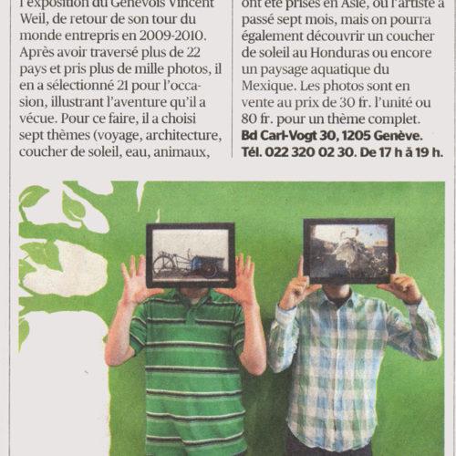 Tribune de Genève / Février 2012