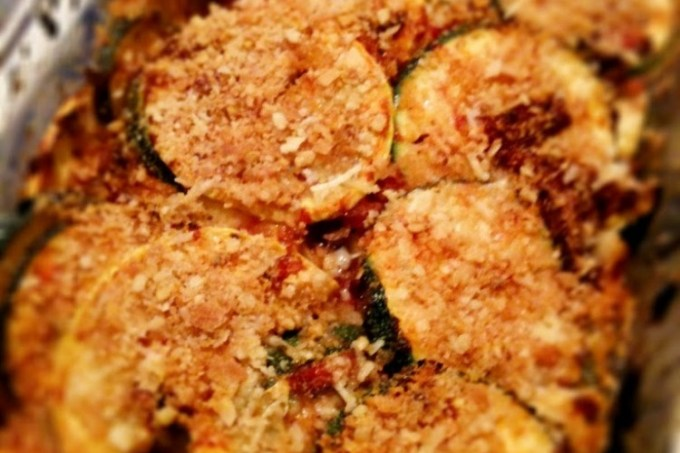 Grilled Chicken & Squash/Zucchini Casserole