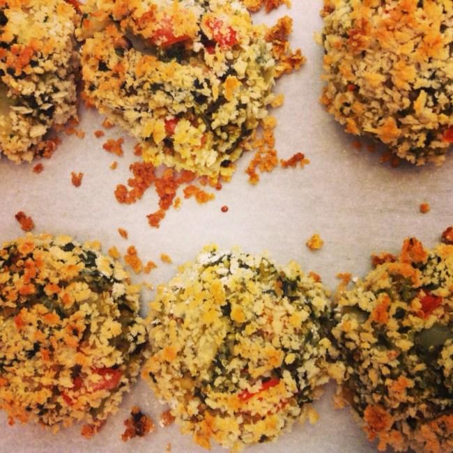 Panko-Baked Veggie Quinoa Cakes