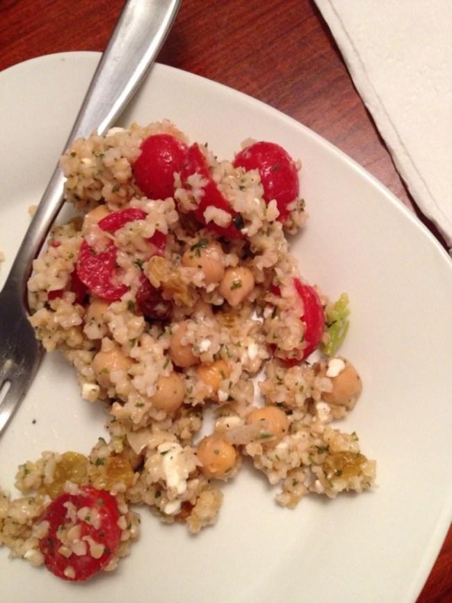 Tabbouleh Salad with Feta and Golden Raisins for #SundaySupper