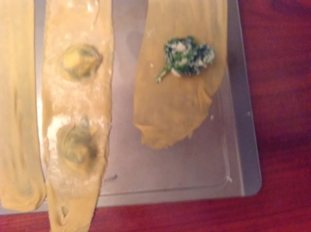 Home Ravioli with Spinach, Feta and Ricotta Filling