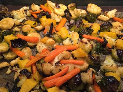 Ginger Roasted Vegetables #EasySideDish