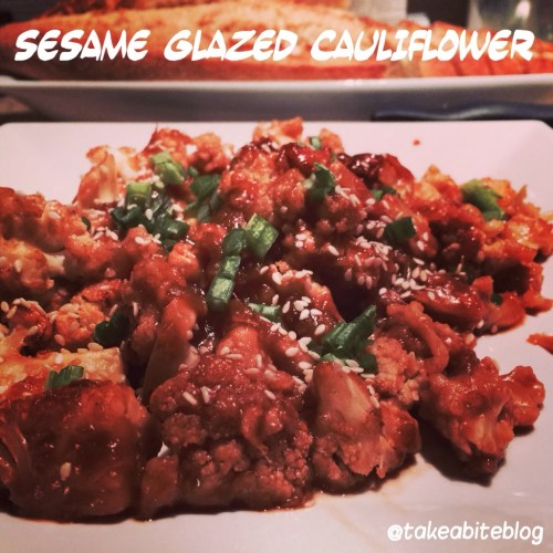 Sesame Glazed Cauliflower