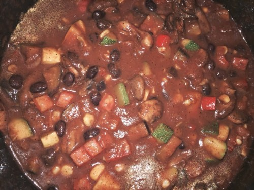 New Orleans Style Vegetarian Chili for #SundaySupper