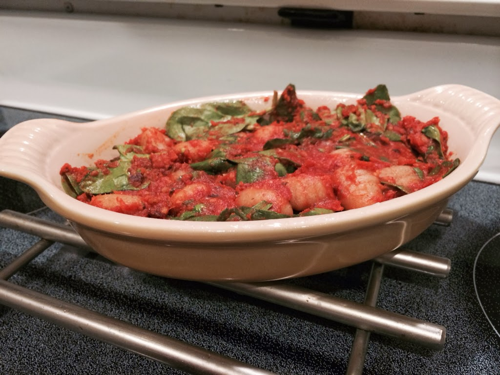 Baked Gnocchi with Spinach and Homemade Tomato Sauce for # ...