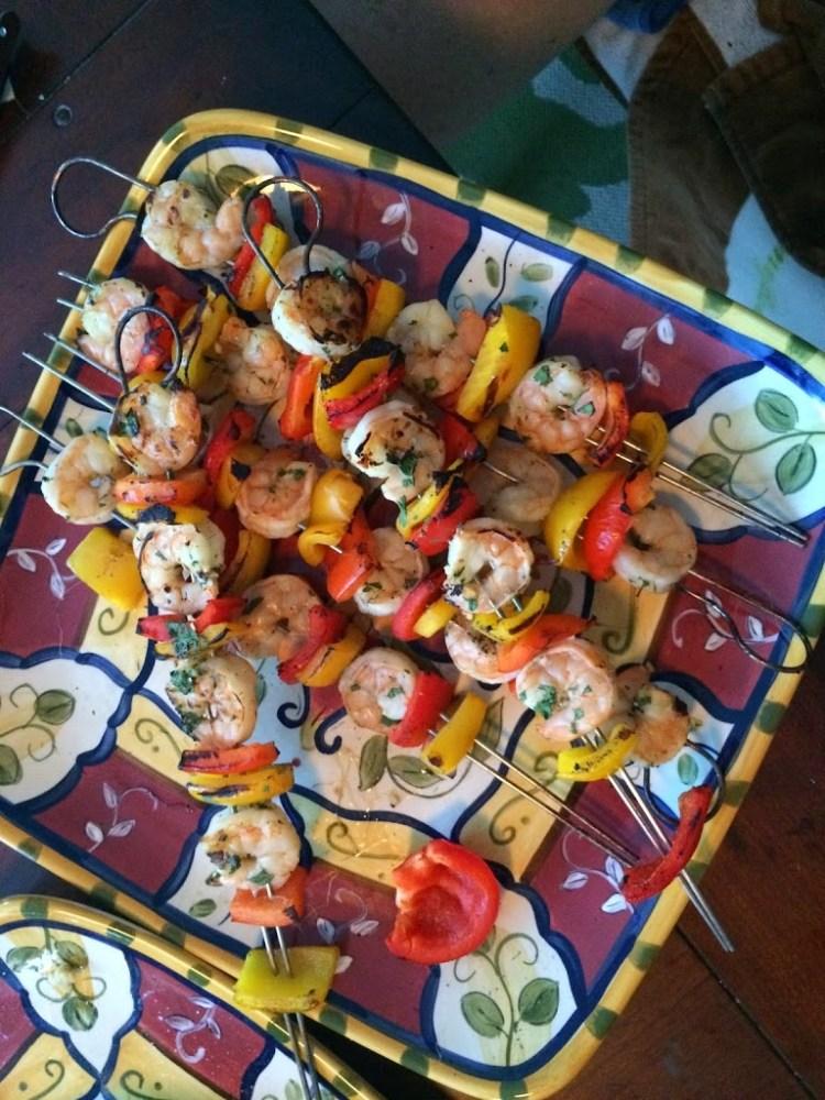 Coconut and Lime Grilled Shrimp Skewers for #SundaySupper