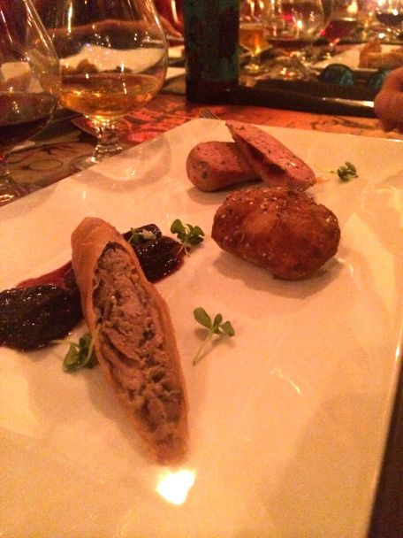 the rebel house duck two ways sausage and foie gras