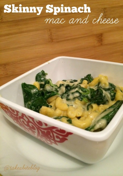 Skinny Spinach Mac and Cheese for #SundaySupper