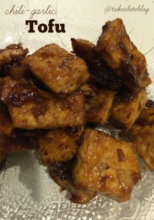 chili-garlic tofu