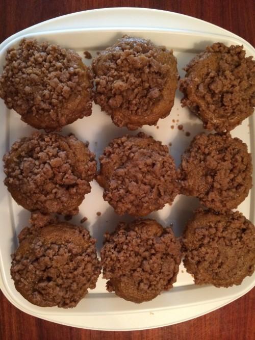 pumpkin coffeecake muffins