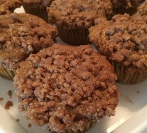 Pumpkin Coffeecake Muffins #SundaySupper