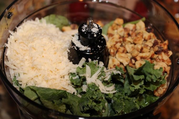kale-basil walnut pesto