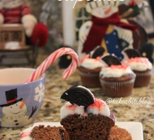 Peppermint Cream Cookie Cupcakes #CupcakeDay