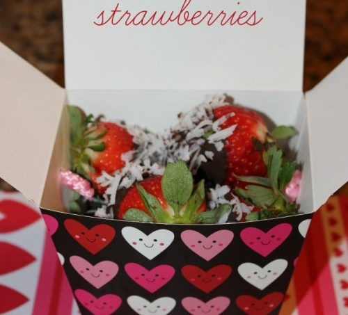 Dark Chocolate and Coconut-Covered Strawberries #ValentinesDay